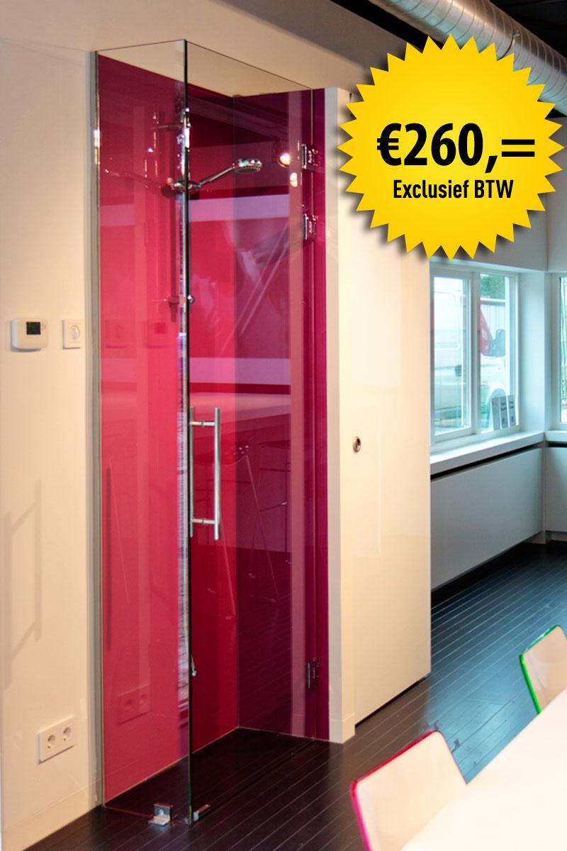 Actie glazen douchdeur_260 euro